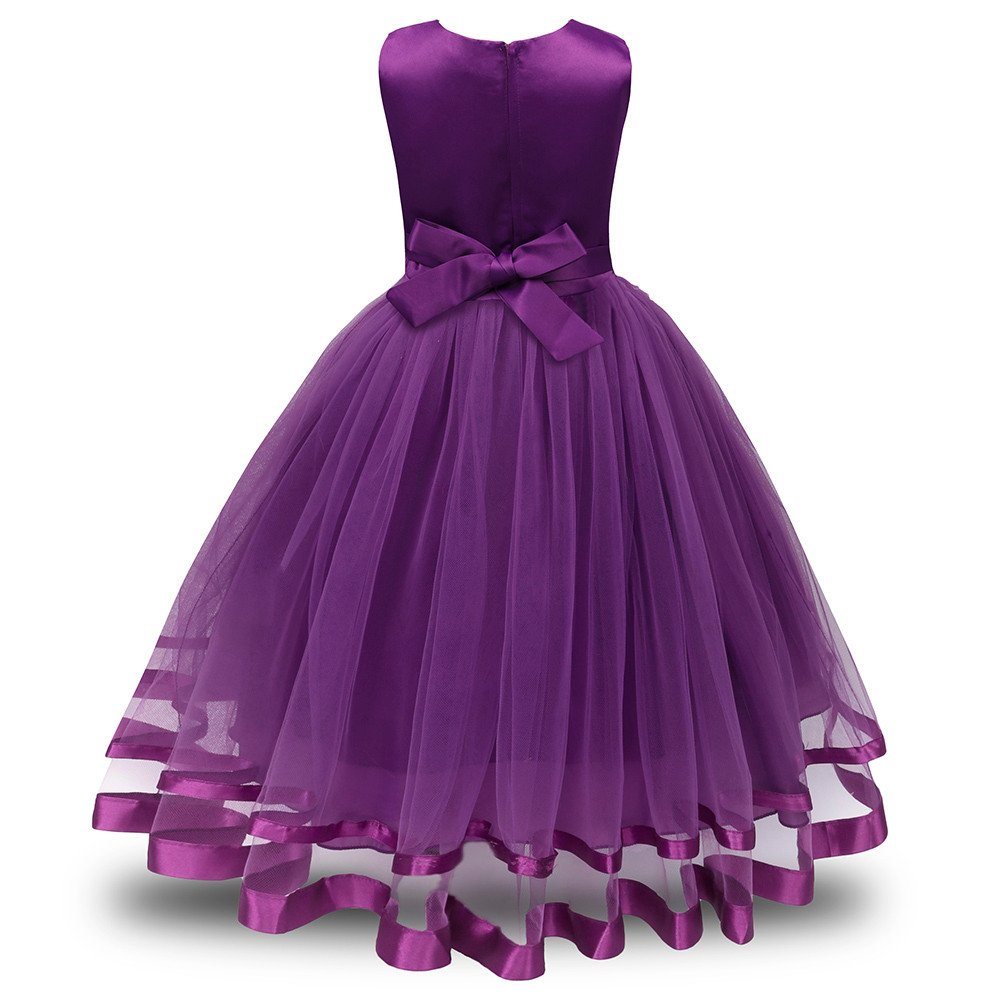 Lonshell - Vestido de fiesta estilo princesa para niña (Rosa ...