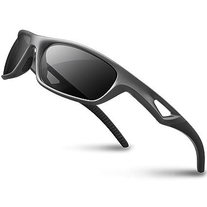 RIVBOS RBS931 Outdoor Sport Gafas de Sol Deportivas Polarizadas para Hombre Esquiar Golf Correr Ciclismo Súper