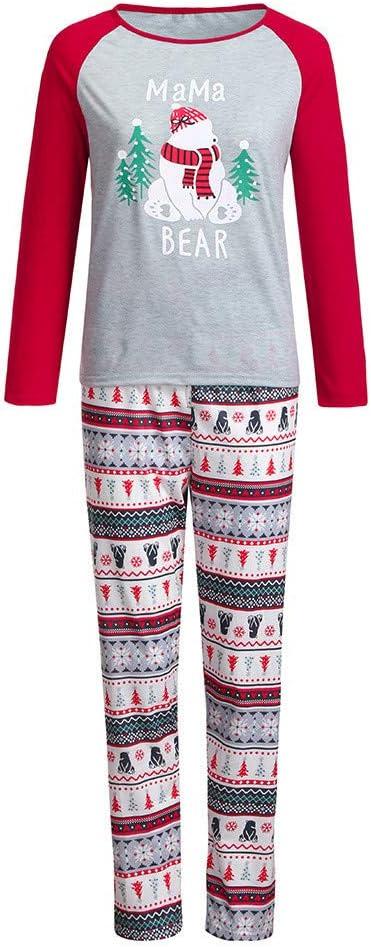 EnjoCho - Ropa familiar con letras de Navidad, pantalones de ...