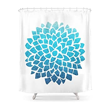 Amazon MAOXUXIN Sea Glass Dahlia Shower Curtain 60 By 72