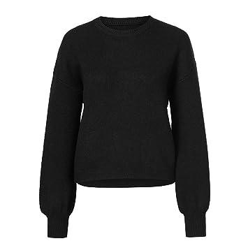 FuweiEncore Suéter de Jersey Suelto Jersey de Manga Larga ...