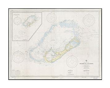 Amazon.com: 1938 Map Bermuda North Atlantic Ocean, Bermuda Islands ...
