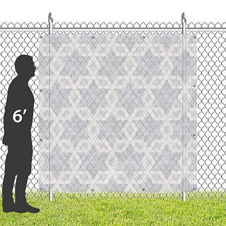 CGSignLab 8x8 Holiday Decor Hanukkah Pattern Wind-Resistant Outdoor Mesh Vinyl Banner