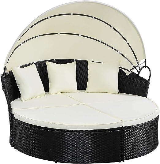 Tangkula Muebles de terraza al Aire Libre del césped del Patio ...
