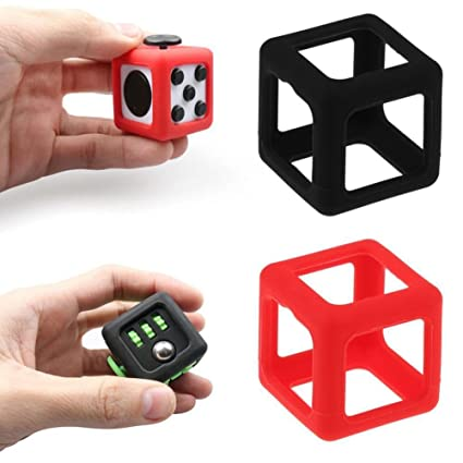 Iusun For Fidget Cube Relieves Stress And Anxiety Protective Prism Cases Cover Black