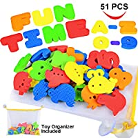 Joyin Toy 51 Pieces Educational Bath Letters, Numbers, Sealifes and Transport...