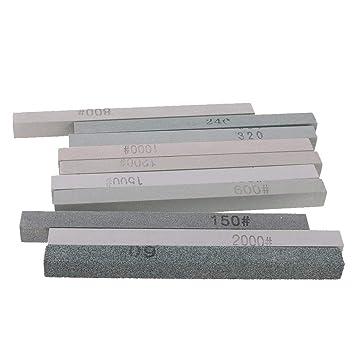 Piedra de afilar para afilar cuchillos (10 unidades, grano ...