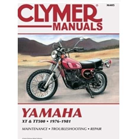 amazon com: clymer repair manual for yamaha xt500 tt500 76-81: automotive