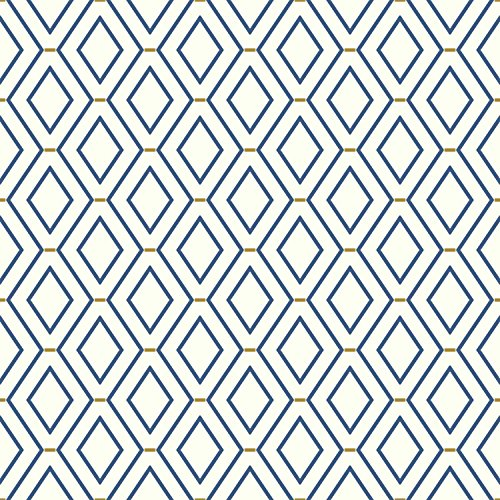 York Wallcoverings Waverly Classics II Diamond Duo Removable Wallpaper, - Prepasted Wallpaper Blue