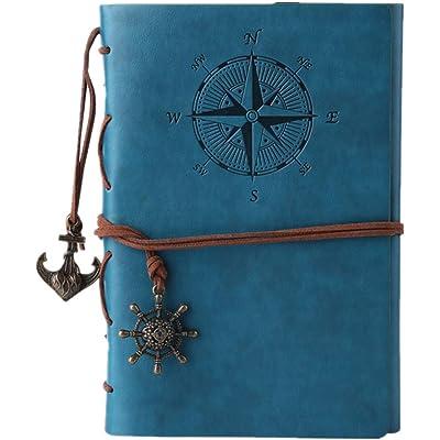 MALEDEN - Cuaderno de viaje/bloc de notas (piel sintética), diseño retro