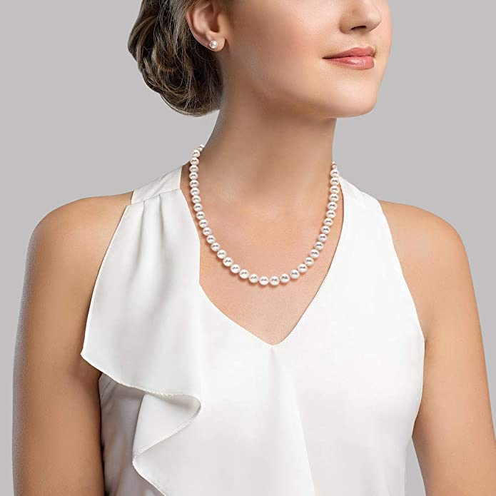 32 inches 8-9 mm Single Knotted Nugget Shape Freshwater Pearl Long Necklace #850