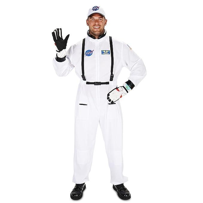 Amazon.com: Disfraz de astronauta blanco adulto, M/ L ...