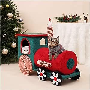 LYXDZW Tren De Navidad Árbol para Gato Torre De Escalada 92cm Gris ...