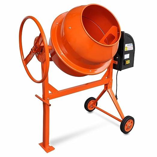 2 opinioni per vidaXL Betoniera calcestruzzo 140L 650W acciaio Arancio