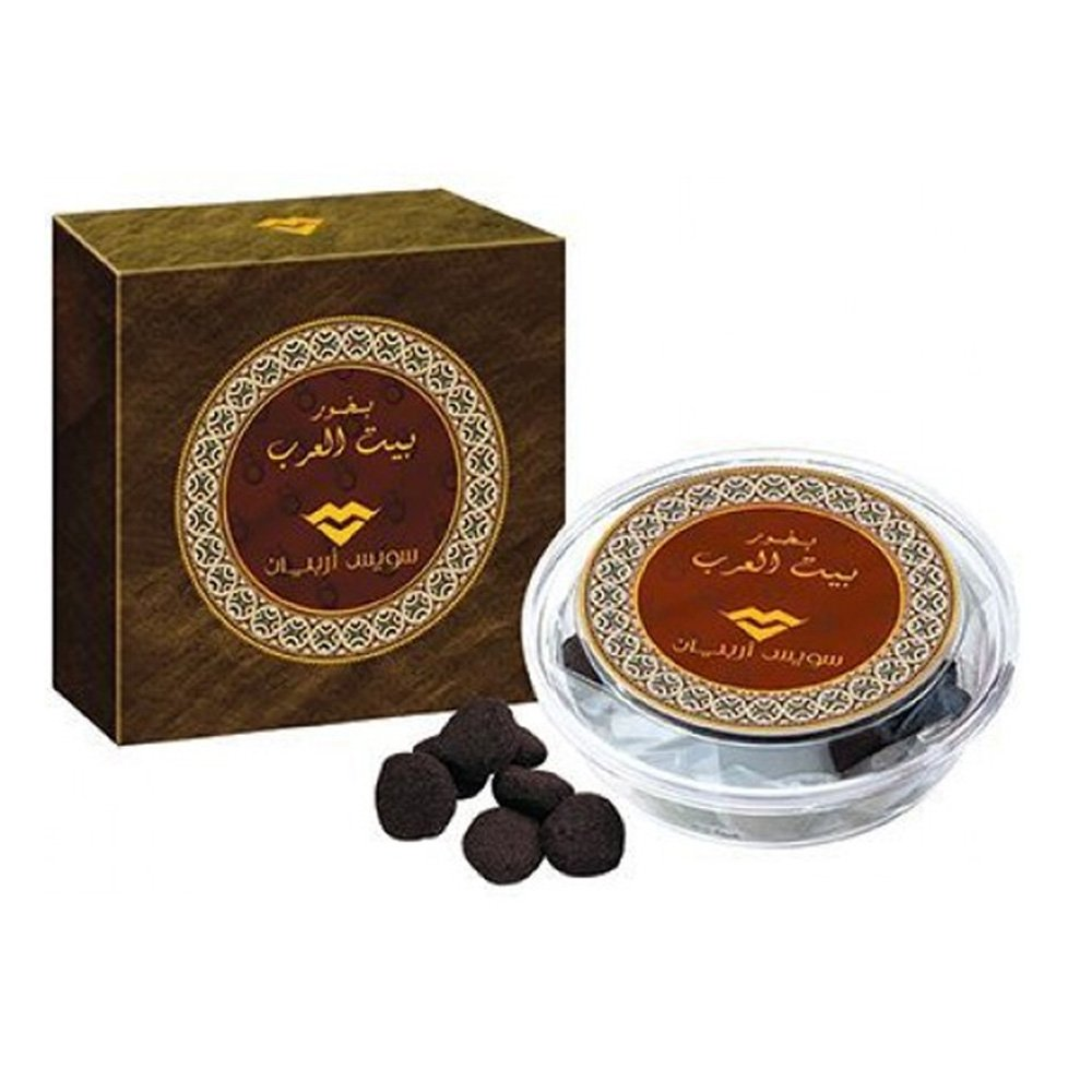 Bait Al Arab (40 Tablets) | Long Lasting Oud Incense with Sultry Indian Rose, Amber, Saffron, Musk and Agarwood | Use with Traditional Charcoal or Electric Bukhoor Burners (Mabkhara) | Frankincense by SWISSARABIAN