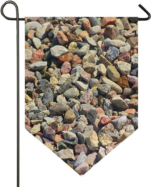 FAJRO Bandera de jardín de Doble Cara, Impresionantes Piedras de Piedra, Material de Primera Calidad, Banderas Decorativas de Temporada al Aire Libre para jardín Patio césped, poliéster, 1, 28x40in: Amazon.es: Jardín