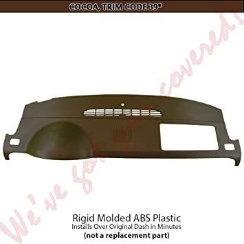 FITS 2007-12 TAHOE//SUBURBAN//YUKON//CHEVY//GMC PICKUPS WITH 1 GLOVE BOX WITH A LID PLASTIC DASH CAP OVERLAY