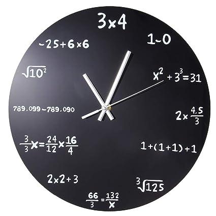Gran Reloj de Pared Creativo Matemáticas Pizarra Pop Quiz Reloj de diseño Moderno Relojes de Pared