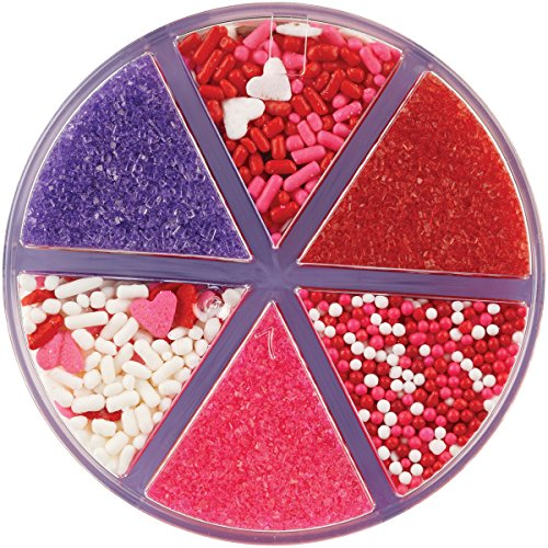 Wilton Sweetheart 6-Cell Valentine Sprinkles Mix