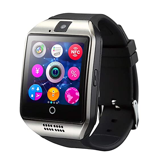 TechComm Q18 Bluetooth and GSM Unlocked Smartwatch with 1.3MP Camera, Fitness Tracker, Anti-Lost Alarm, Sleep Monitor, Pedometer and Sedentary ...