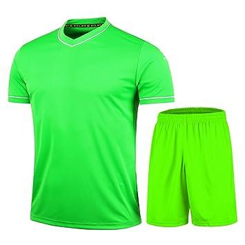 KELME Fútbol Uniforme Camiseta de Trajes para Hombres, Color Verde, tamaño Small: Amazon.es: Deportes y aire libre