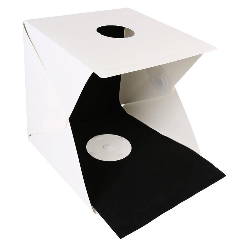 1 difusor y 4 fondos fondo fotogr/áfico para tel/éfono inteligente con 2 tiras LED Cubo de iluminaci/ón de estudio fotogr/áfico profesional para fotograf/ía port/átil perfecto para estudio en el hogar