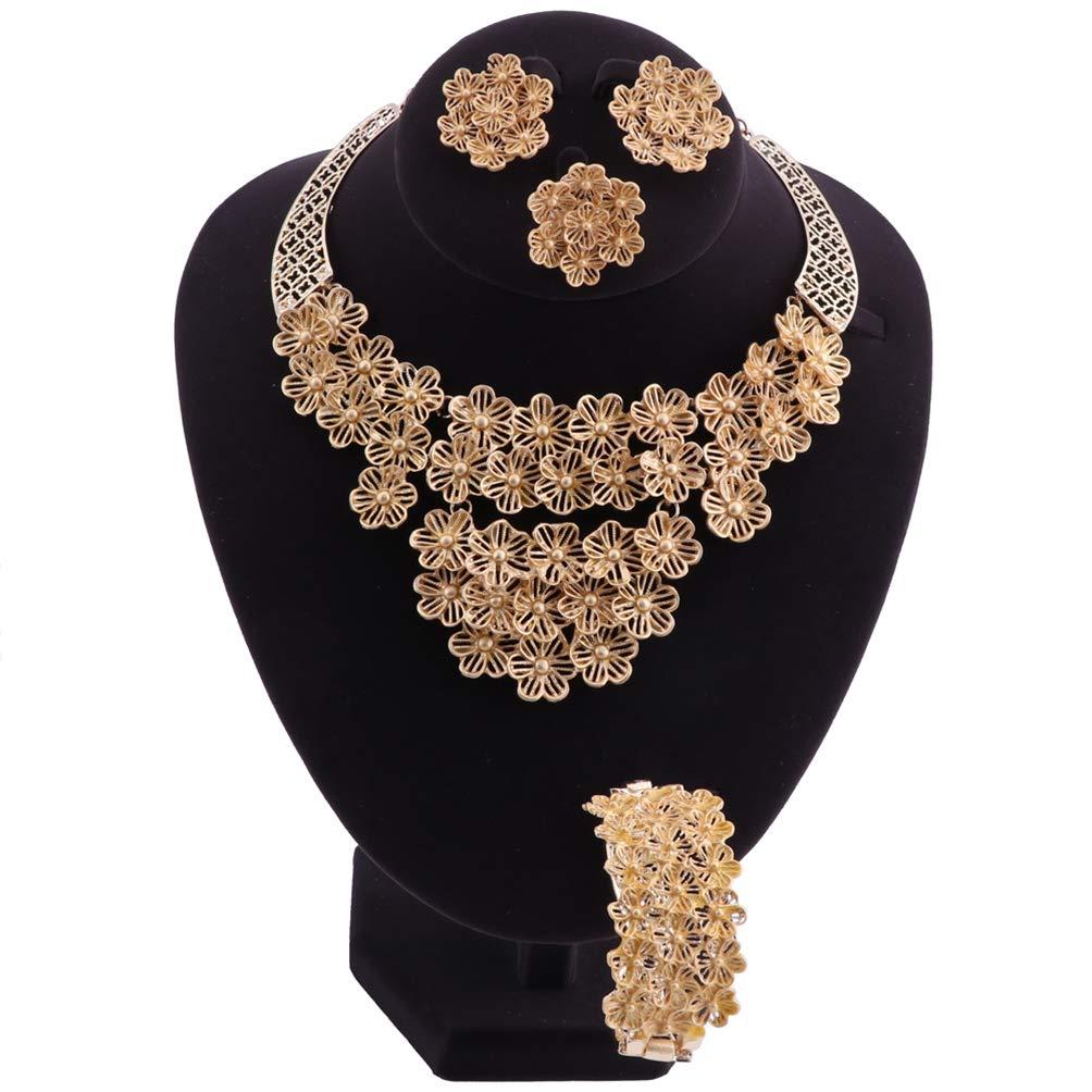 78c0ddd4a Amazon.com: SIIQO Bridal Gift Dubai Gold Color Jewelry Set Nigerian Wedding  Woman Accessories Jewelry Set African Beads Costume Jewelry: Jewelry