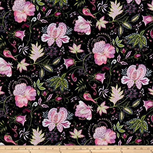 FreeSpirit Fabrics Meadowlark Eden Plum Fabric Fabric by the Yard