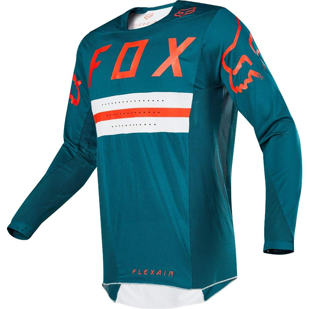Fox Racing 2018 Flexair Jersey - Preest LE (MEDIUM) (FOREST GREEN) 22143-030-M