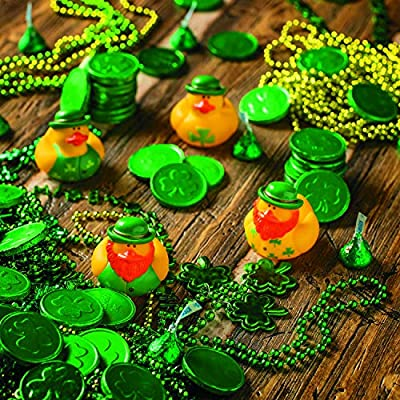 One Dozen (12) Irish St. Patrick's Day Rubber Ducks: Toys & Games