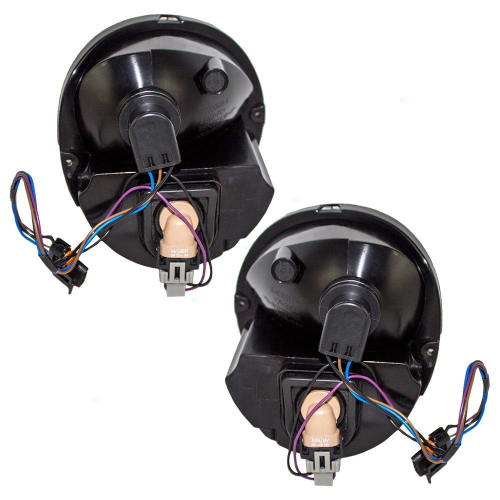 Driver and Passenger Park Signal Front Marker Lights with Fog Lamps Replacement for Pontiac 15852221 15852222