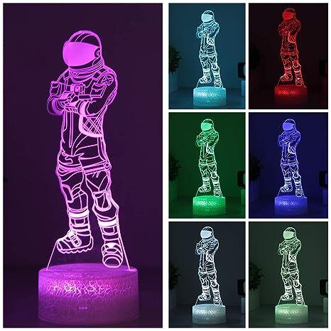 Amazon.com: Luz nocturna 3D de 7 colores cambiantes, lámpara ...