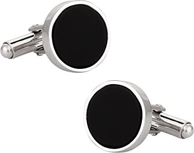 Art Deco Style Onyx Cufflinks 925 Sterling Silver Mens Fathers Day Gift