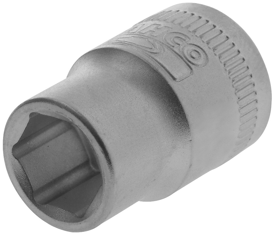 Bahco BAH14SM10 Hexagon Socket 0.25-inch Drive, 10 mm, Silver Toolbank