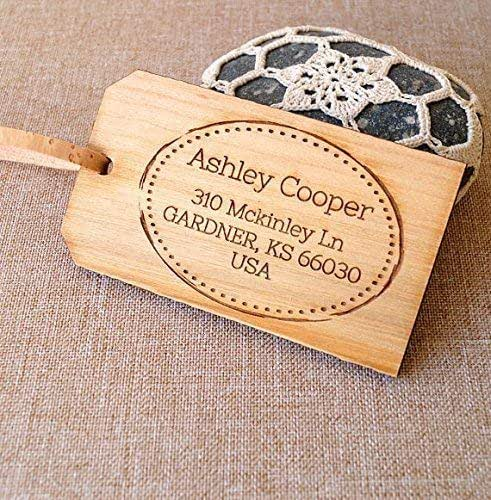 Personalized Luggage Tags Wedding Gift: Amazon.com: 5th Wedding Anniversary Gift.Wooden Luggage