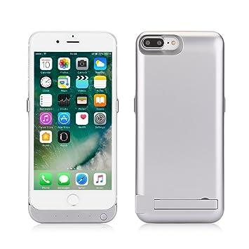ZOGIN Funda Batería iphone 7 plus, 10000mAh Funda Protectora Cargador / Funda de Batería Integrada Recargable de Alta Capacidad con Soporte de Móvil ...