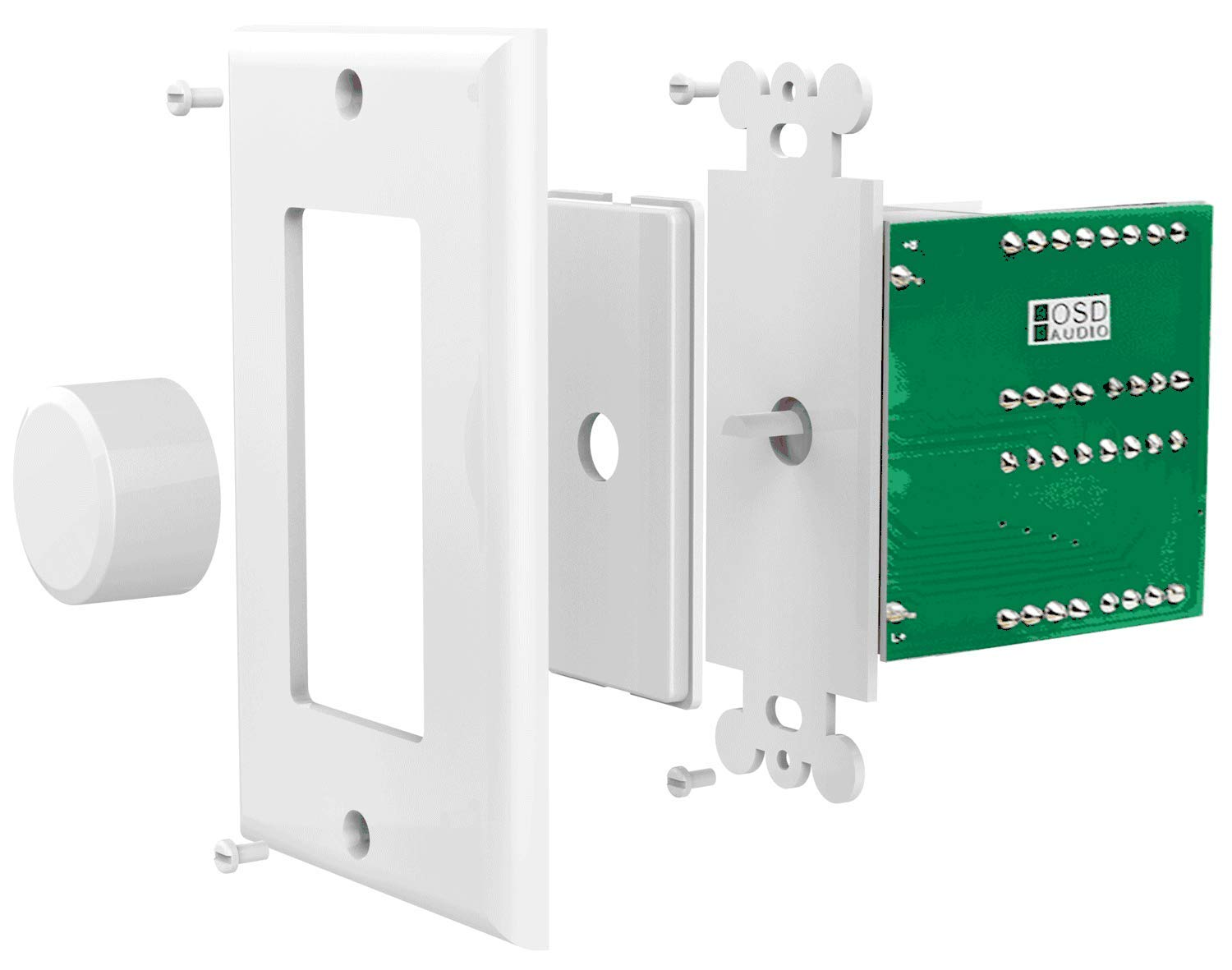 Svc100 Impedance Matching 100w In Wall Rotary Knob Style Amazoncom Pyle Home Pvcs5 Inwall A B Speaker Source Switch Theater Volume Control Switchable Decora Plates Osd Audio White