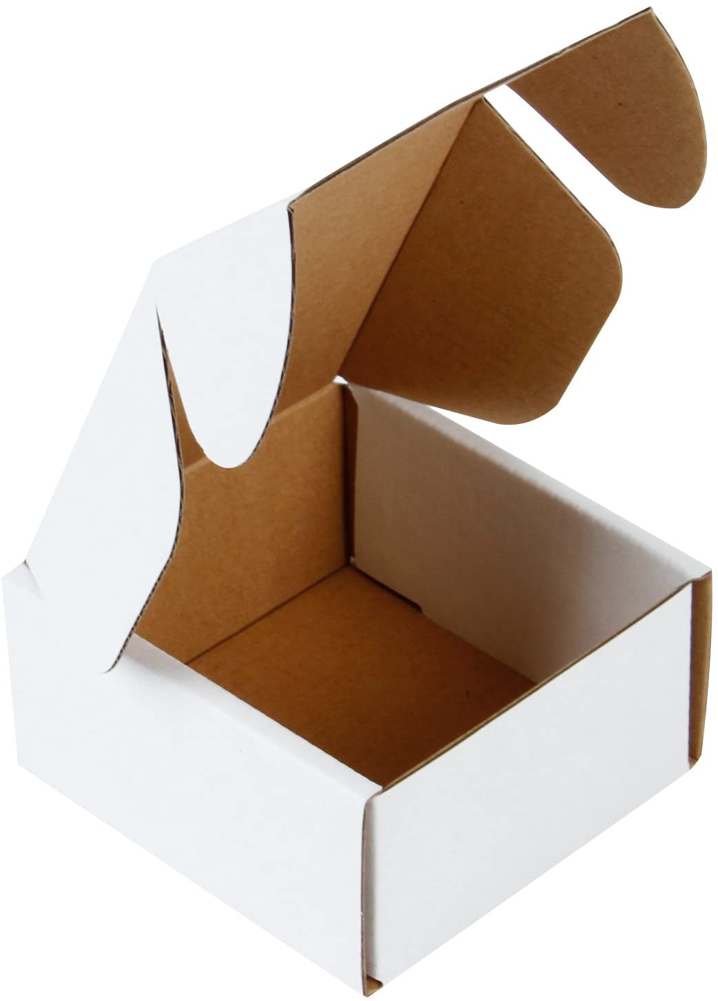 "RUSPEPA Recyclable Corrugated Box Mailers - Cardboard Box Perfect for Shipping Small - 4"" x 4"" x 2"" - 50 Pack - Oyster White : Office Products"