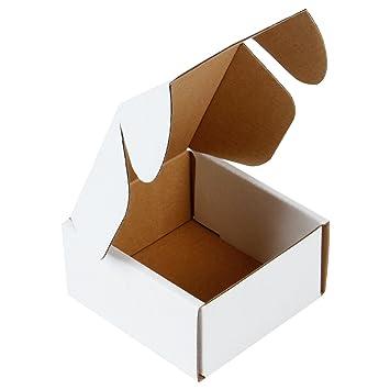 RUSPEPA 10 X 10 X 5Cm Cajas De Cartón Corrugado Perfecto Para El Envío Pequeño, Blanco De Ostra (Paquete De 50): Amazon.es: Hogar