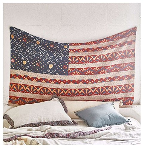 Ilishop Vintage American Flag Style Tapestry, Indian Hippie