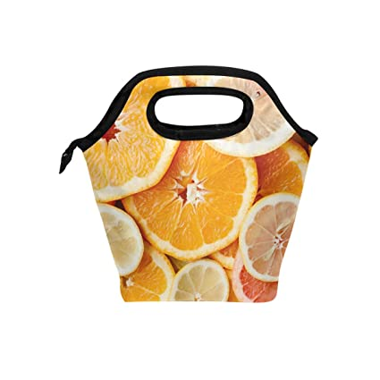 9f474892ceb8 Amazon.com - HEOEH Fruit Orange Lunch Bag Cooler Tote Bag Insulated ...
