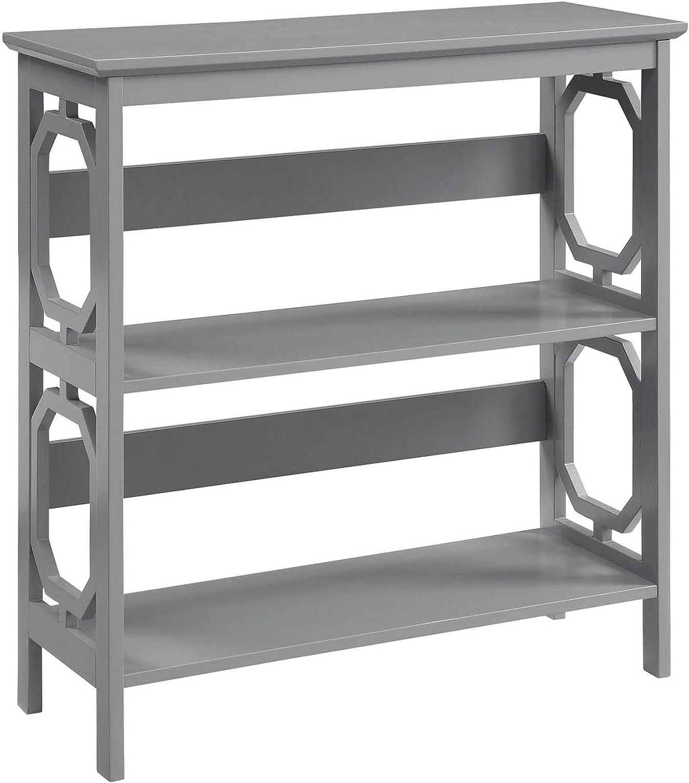 Convenience Concepts Omega 3 Tier Bookcase, Gray