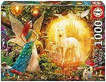 Peacock Feather Fairy - Educa 1000 Piece Puzzle by Educa