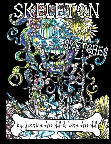Skeleton Sketches Coloring Book