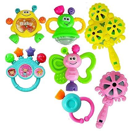 Conjunto de mordedores bebé de juguete de 7 piezas de Sonajero Baby ...