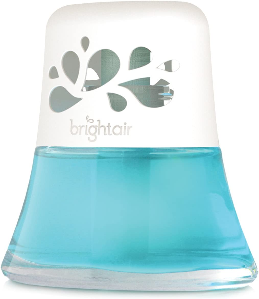 Bright Air 900115 Scented Oil Air Freshener and Diffuser, Calm Waters and Spa, 2.5 Ounces, Blue