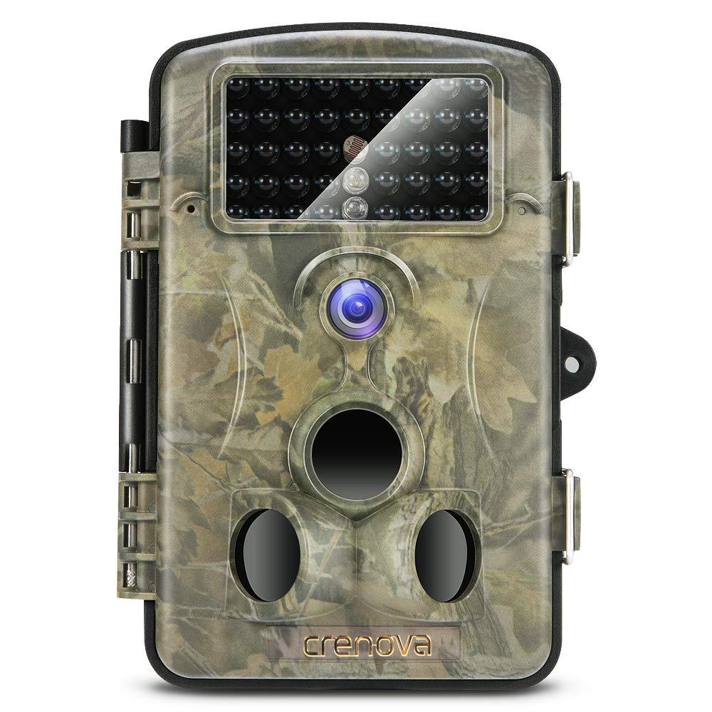 Crenova® 12MP 1080P HD Wildkamera 120° Infrarote 20m Nachtsicht 2.4 LCD Jagdkamera Jagdzeug Überwachungskamera RD1000