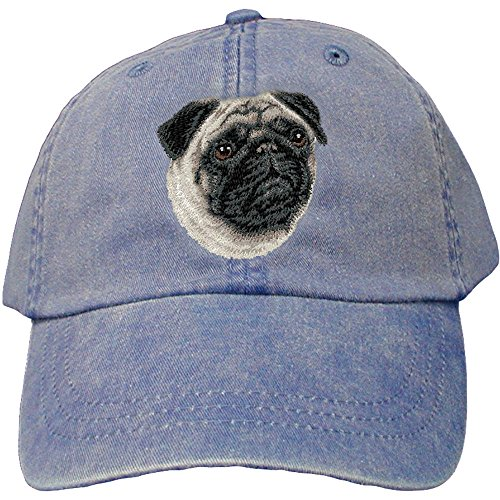 Cherrybrook Dog Breed Embroidered Adams Cotton Twill Caps - Royal Blue - ()