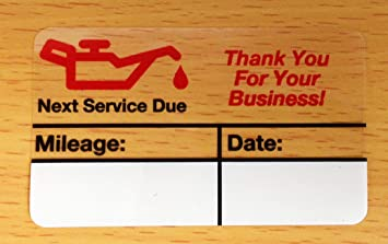 Generic Oil Change Stickers (60+ Count) FREE Sharpie with order!