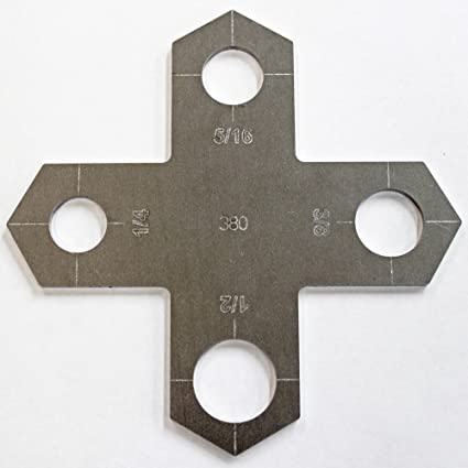 holey cross plasma stencil 430 bolt hole circle plasma cutter